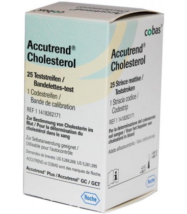 Аккутренд Холестерин 25 тест-полосок / Accutrend Cholesterol 25 test strips
