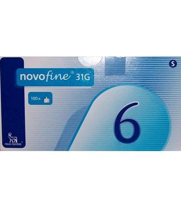 Иглы для шприц-ручек Novofine - 6мм.