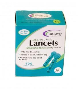 Ланцеты ультратонкие DrClever 32G, 100 шт.