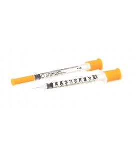 Шприц інсуліновий. 1,0 мл. Голка 0,3 * 13мм. - 10 шт. (Упаковка).