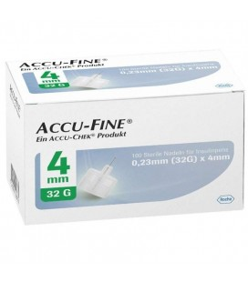 Иглы для шприц-ручек Accu-Fine 4 мм, 100 шт.