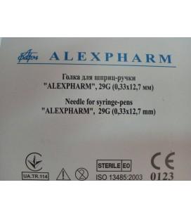 Голки для шприц-ручок Alexpharm 12,7 мм x 0.33 мм, 100 шт.