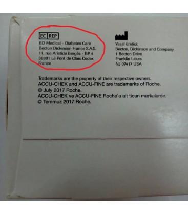 Иглы для шприц-ручек Accu-Fine 6 мм, 100 шт.