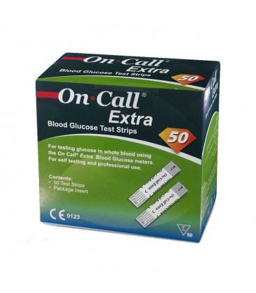 Тест-полоски On-Call Extra, 50 шт.