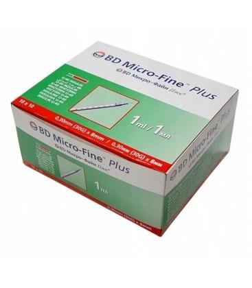 Шприцы BD Micro-Fine Plus, 10 шт. (U-100 / 0.1 мл) (В упаковке)