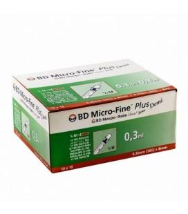 Шприцы BD Micro-Fine Plus Demi, 10 шт.(U-100 / 0.3 мл.),(в упаковке)